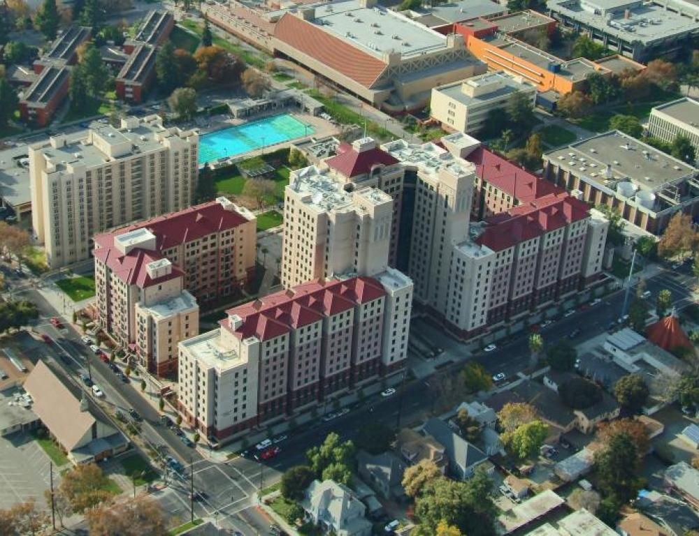 Aerial View of All Residence Halls