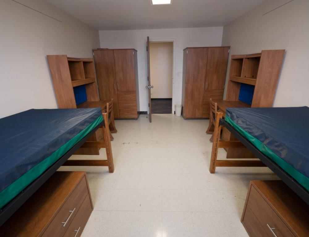 Niagara University's Standard Double Dorm room used for accommodations