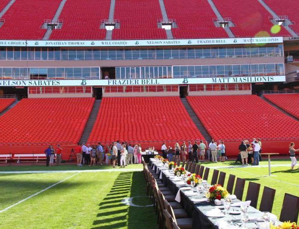 Reception on the field