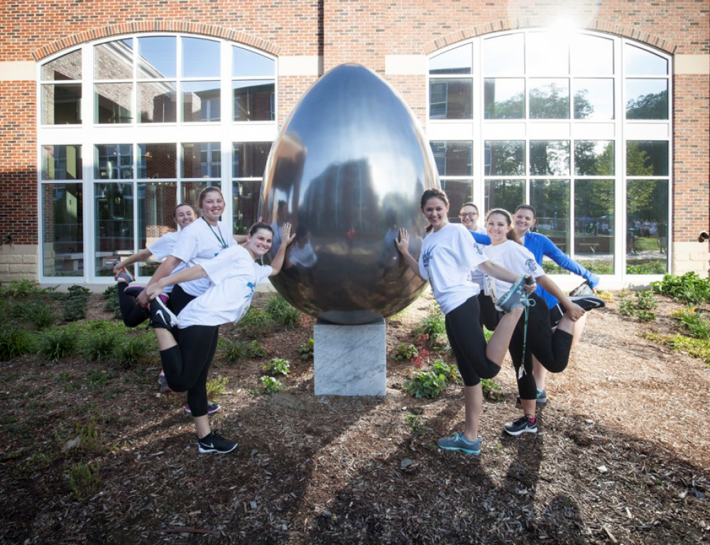 Campus Art - Egg outside The Student Commons