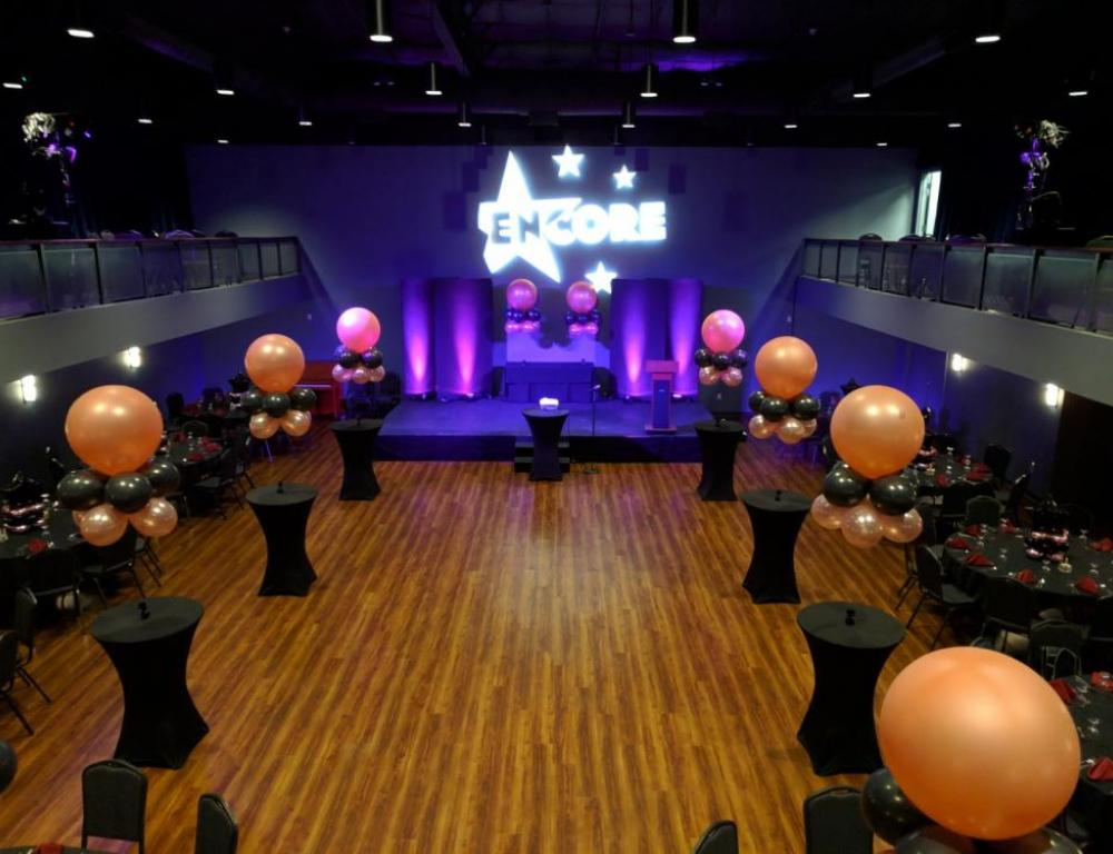 Encore Room set for a high school prom
