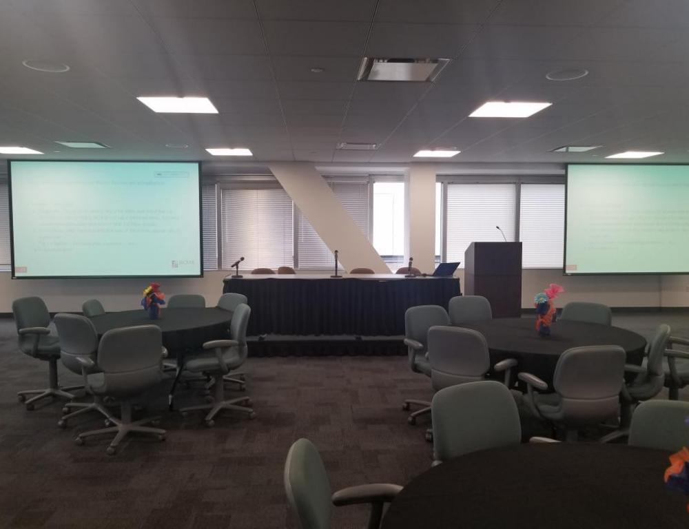 The Erie Room features state-of-the-art technology for all your presentation needs.