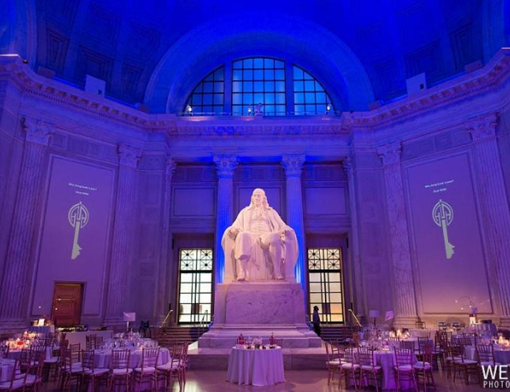 Dinner Reception in Benjamin Franklin National Memorial