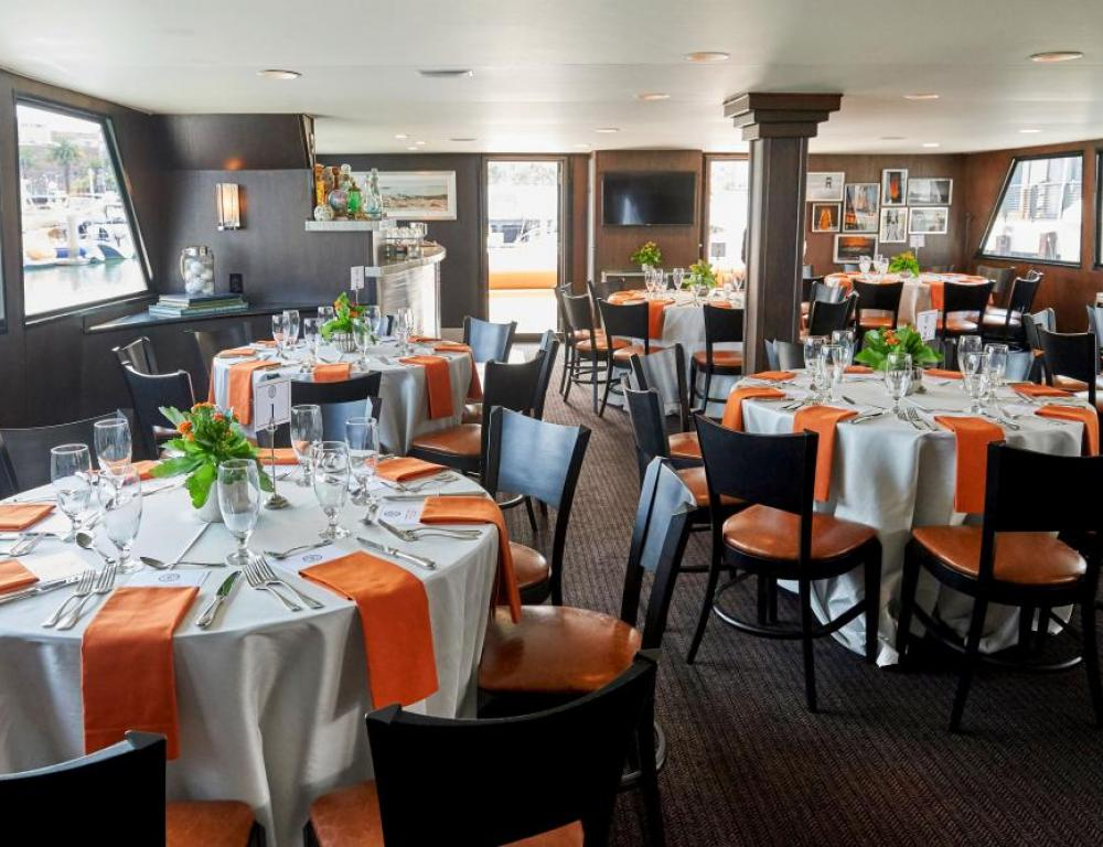Host a private dinner on the California Spirit yacht