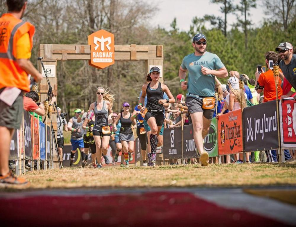 Various obstacle courses, 5K's, and races. Pictured is the annual Ragnar Relay Trail Race