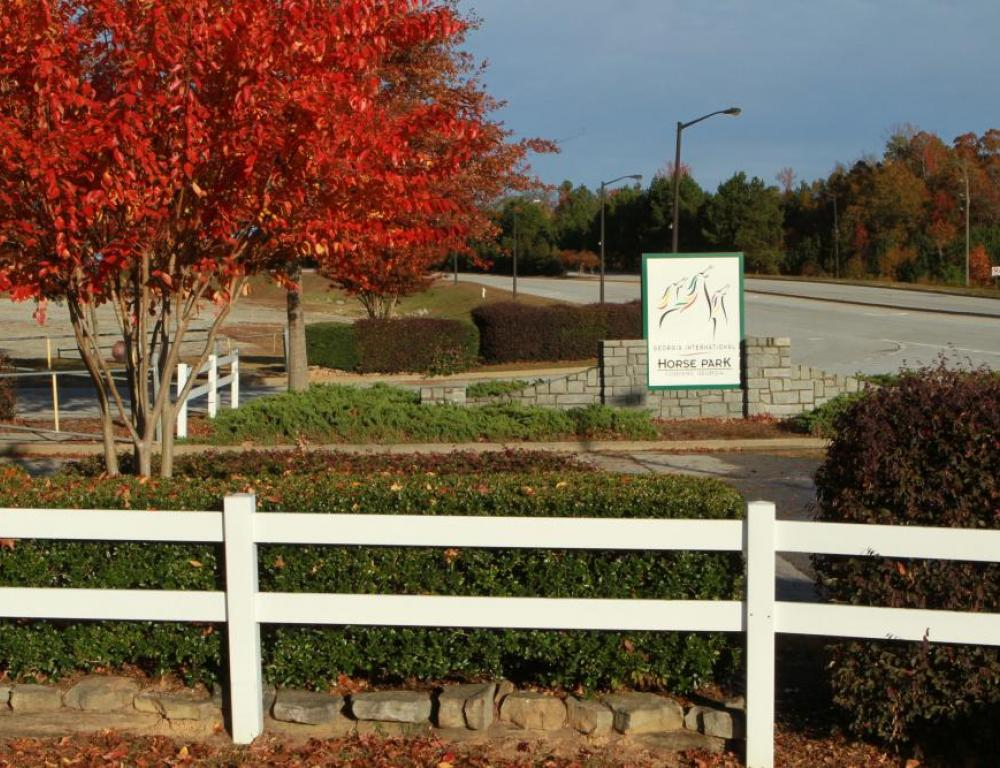 Main entrance to the Georgia International Horse Park on Centennial Olympic Parkway
