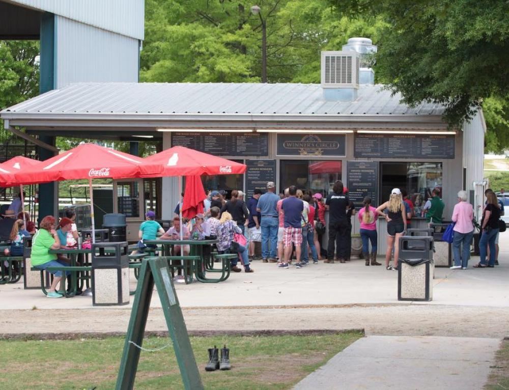 The Winners Circle Concessions near the Charles C. Walker arena