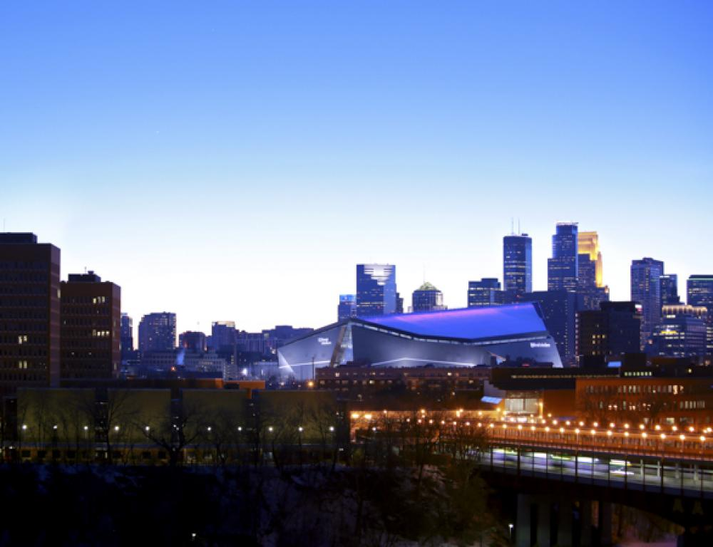 Minneapolis Skyline from the University of Minnesota Campus