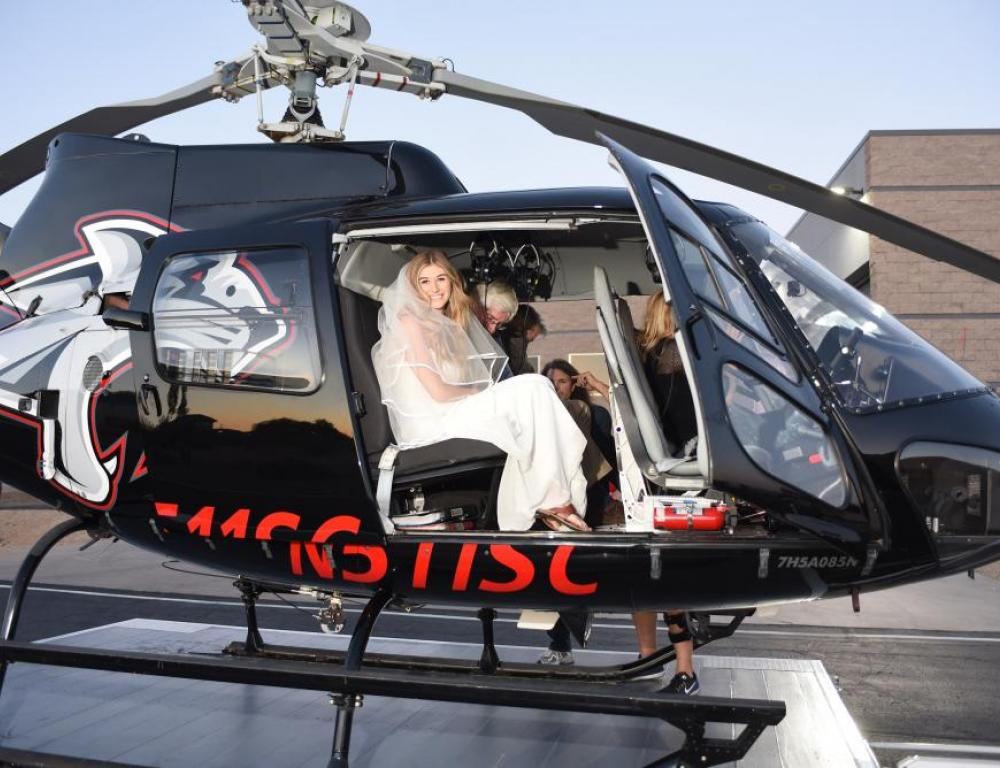 Jet Setter Helicopter Wedding at the Heli Hangar