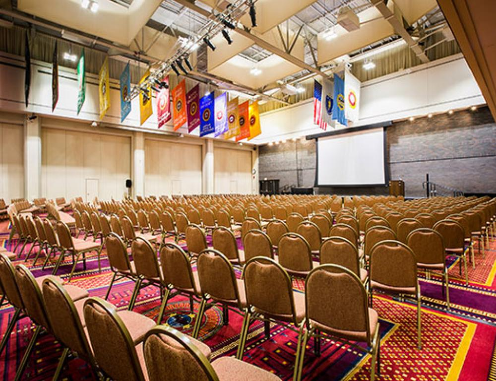 George Sherman Union - Metcalf Hall - Theater Setup