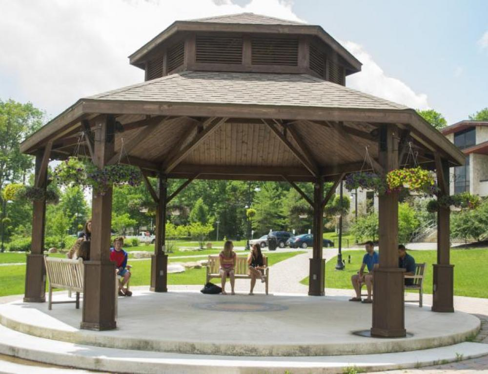 Gazebo in front of Student Union