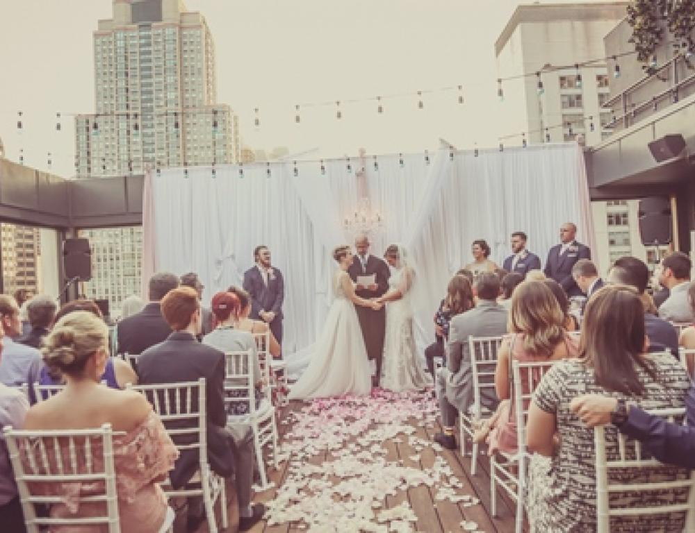 52Eighty Private Rooftop Patio Event Space - LGBTQ Wedding Ceremony