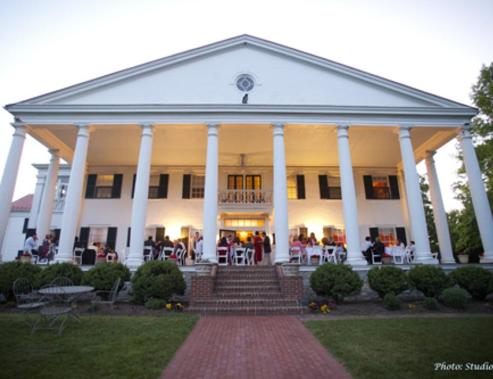 The Grand Portico is a gorgeous location for an outdoor dinner