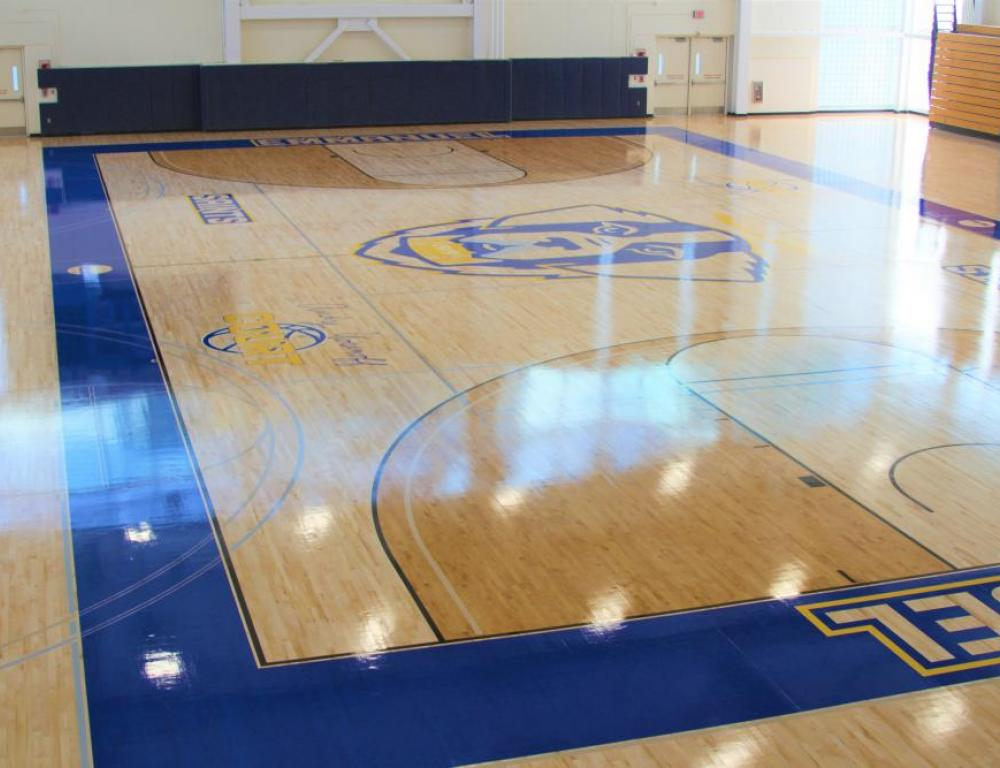 Gymnasium features NCAA regulation court and serves as our largest meeting space