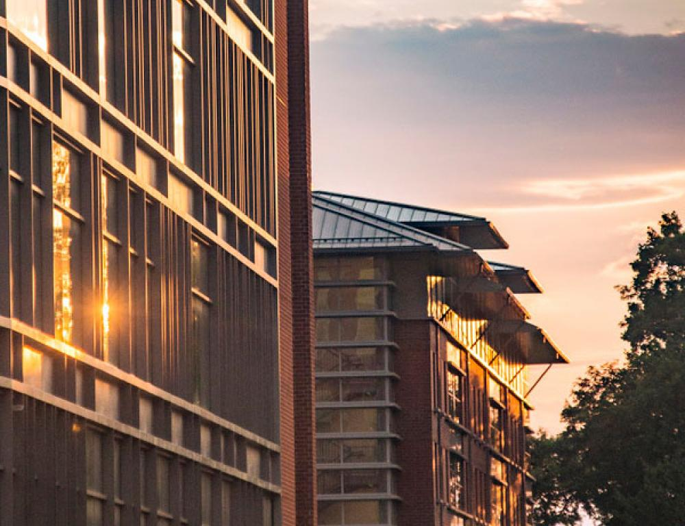 GMU Residence Hall at Sunset