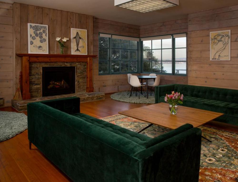 Hearth Lounge offers great views and breakout space
