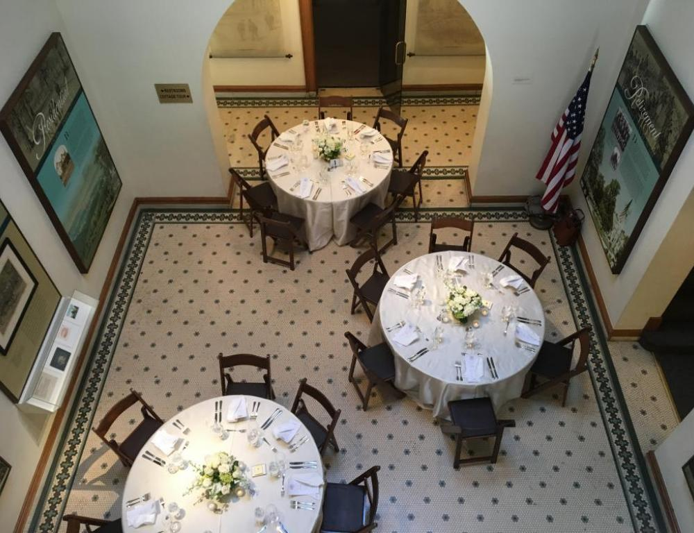 Dinner in the Atrium of the Robert H. Smith Visitor Education Center