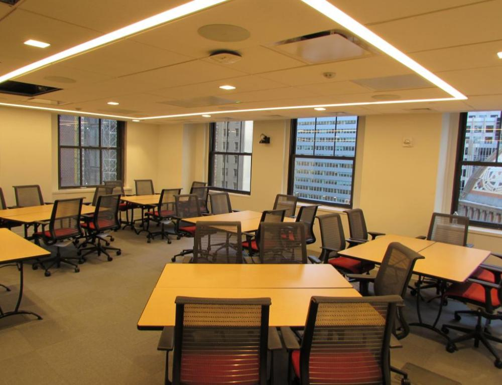 NYC ILR Conference Center - cluster set up