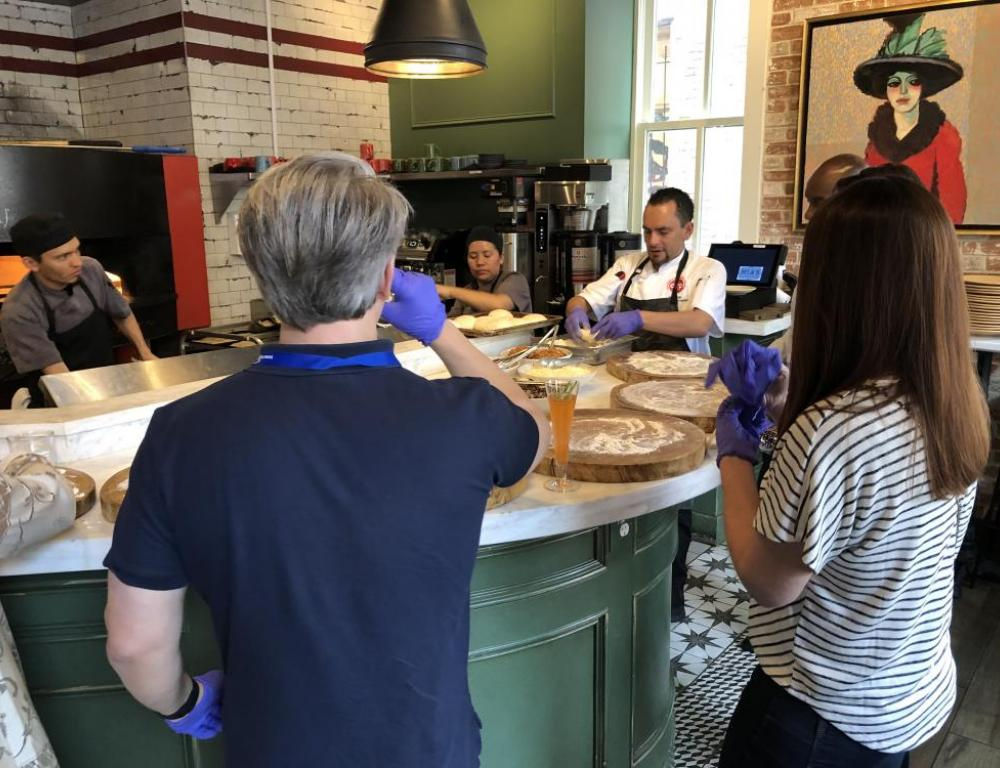 Mia's (adult) Pizza Making Class (there's a kids version too!)