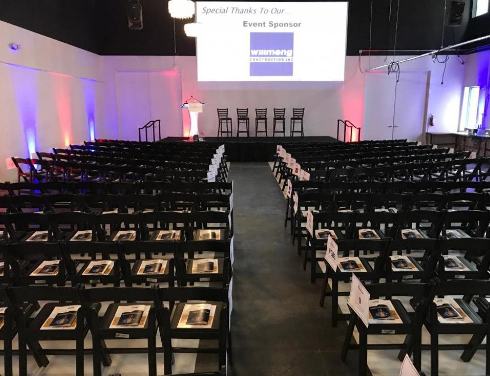 Theater style seating for 350 at FABRIC