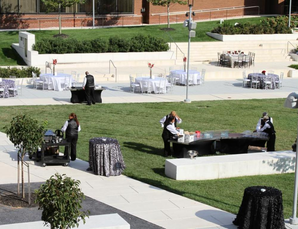 The Moore Library Quad is perfect for a Spring/Summer event.