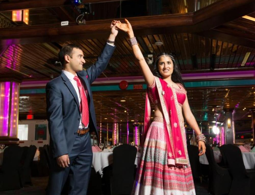 Sangeet aboard a Hudson Harbor Yacht with Old World Charm