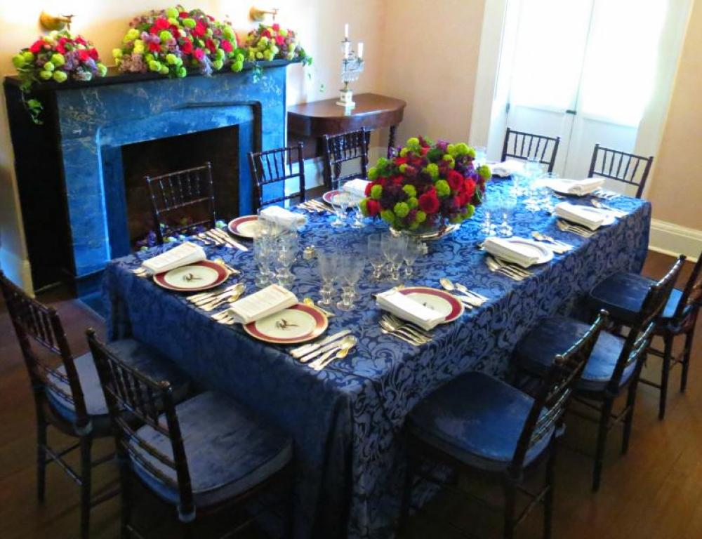 Dinner in the Dining Room of President Lincoln's Cottage