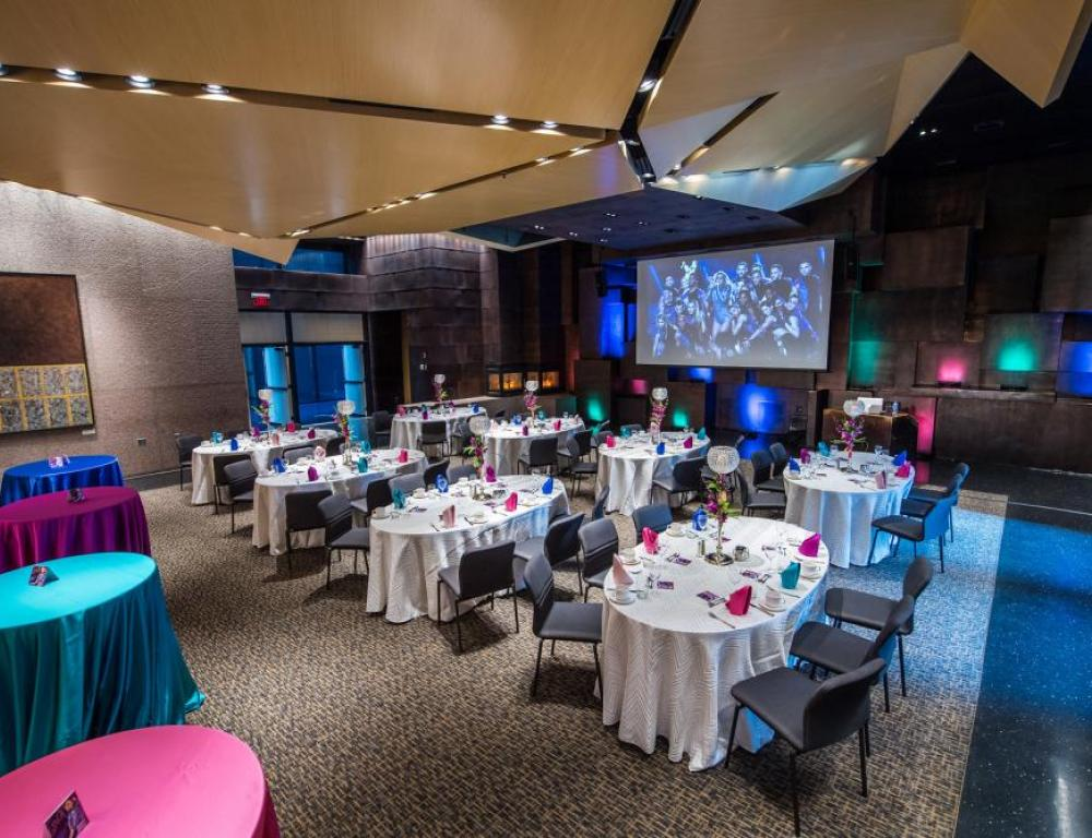 Johnson Great Room is a premier room featuring our beautiful architecture and superior built-in AV