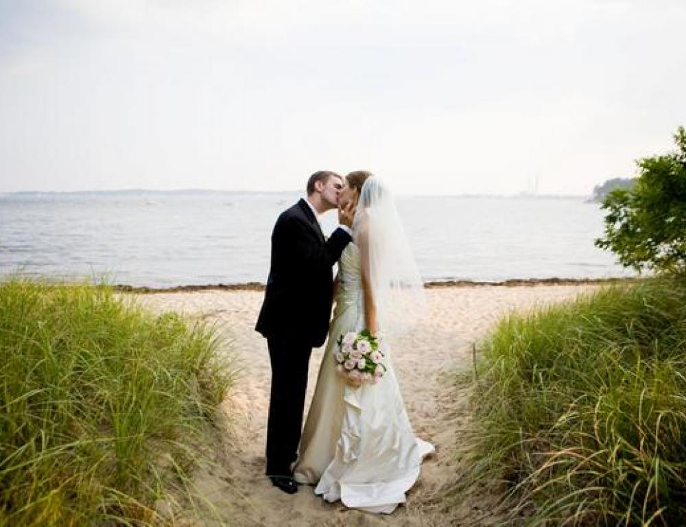 Oceanfront Wedding Photo