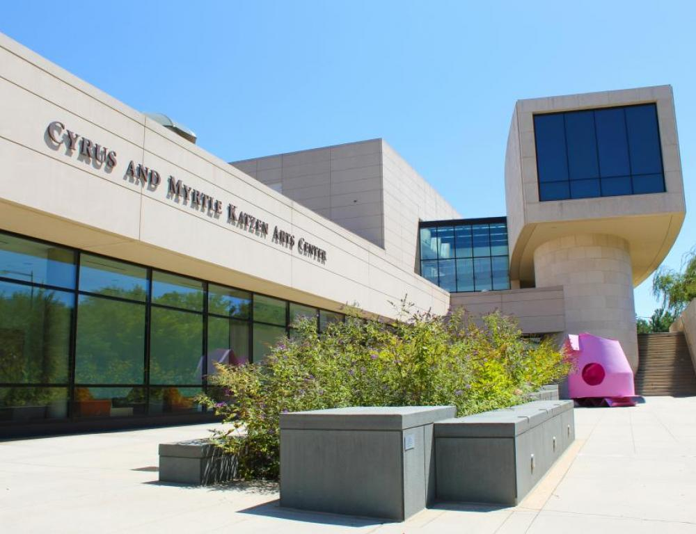 Guests can visit rotating exhibitions of contemporary art at the American University Museum at Katzen Arts Center.