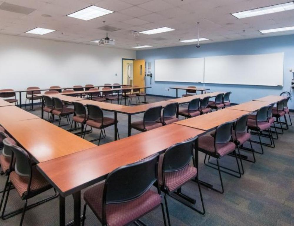 A variety of classroom space becomes available May through August.