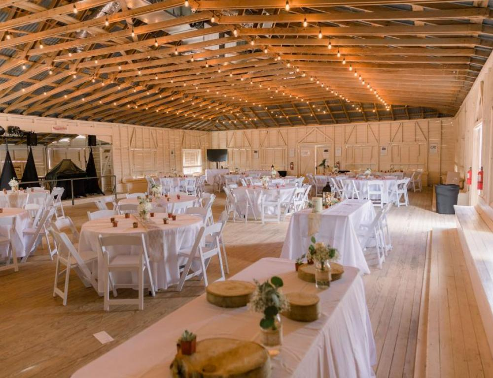Ready to Celebrate in our 100 year old Dance Hall