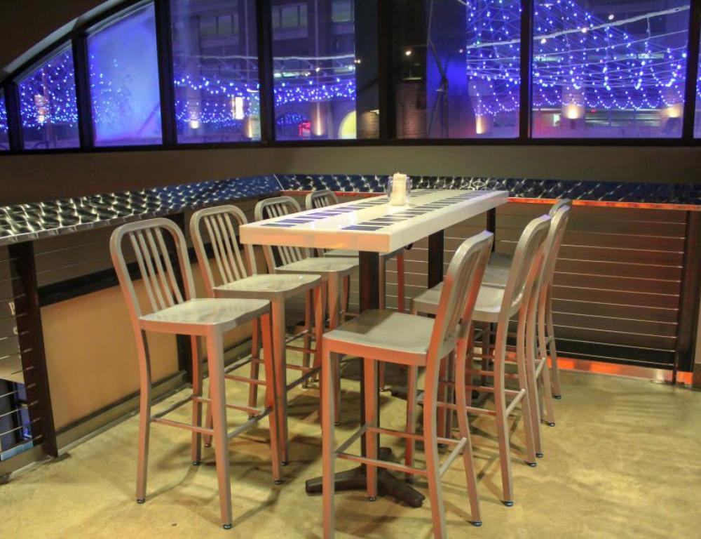 Located in Beautiful National Harbor. Our mezzanine level looks out to lighting