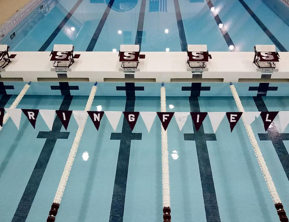 The Art Linkletter Natatorium is a six-lane, 50-meter pool, with two one-meter and two three-meter diving boards, a moveable bulkhead system and state of the art timing system. The water depth ranges from four to 12 and a half feet.