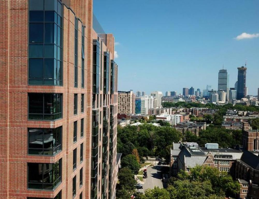 New Residence Hall city view