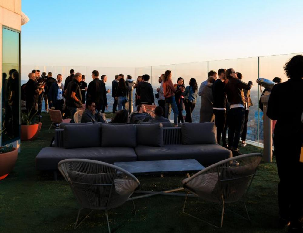 OUE Skyspace Group Photo on Outdoor Terrace