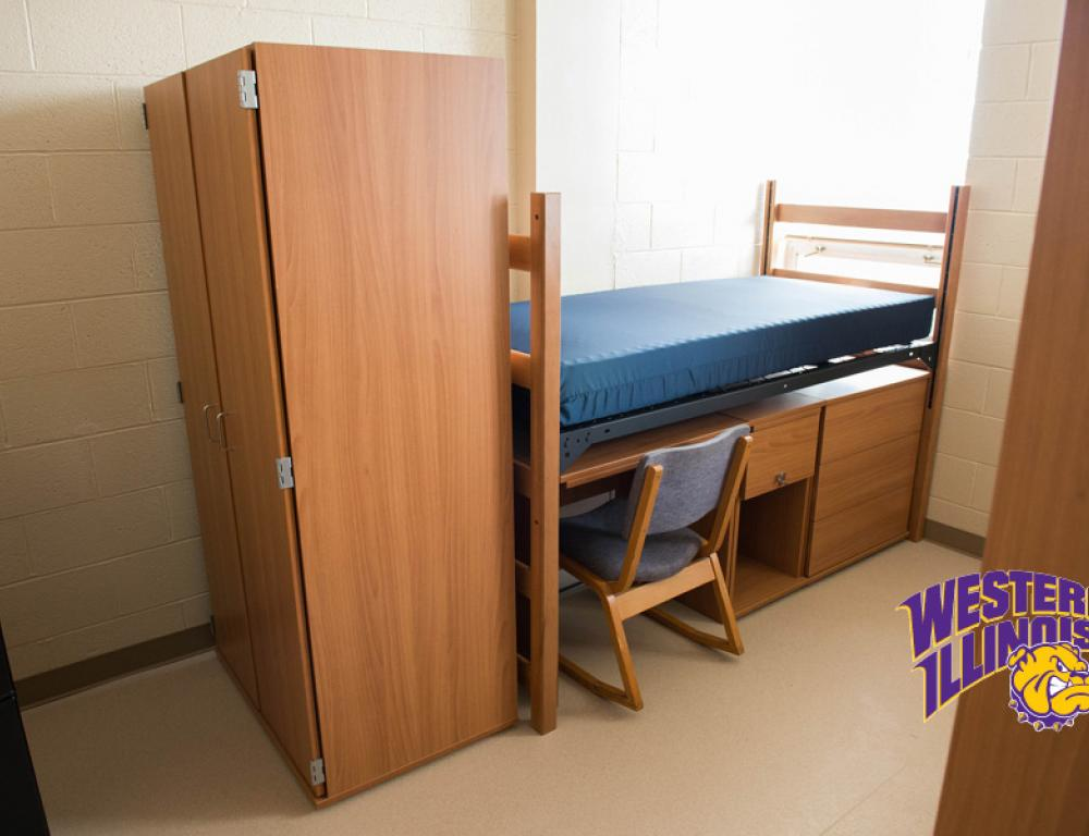 Air-Conditioned Residence Hall Room