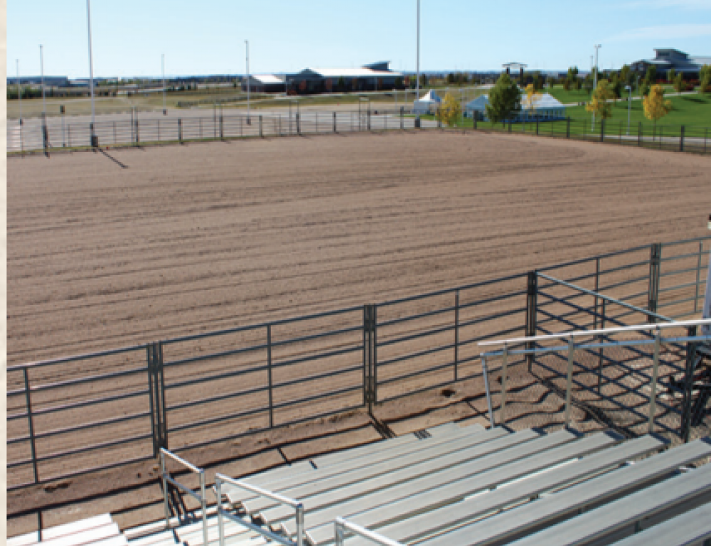 One of two Outdoor Arenas adjacent to the MAC Equipment Arena