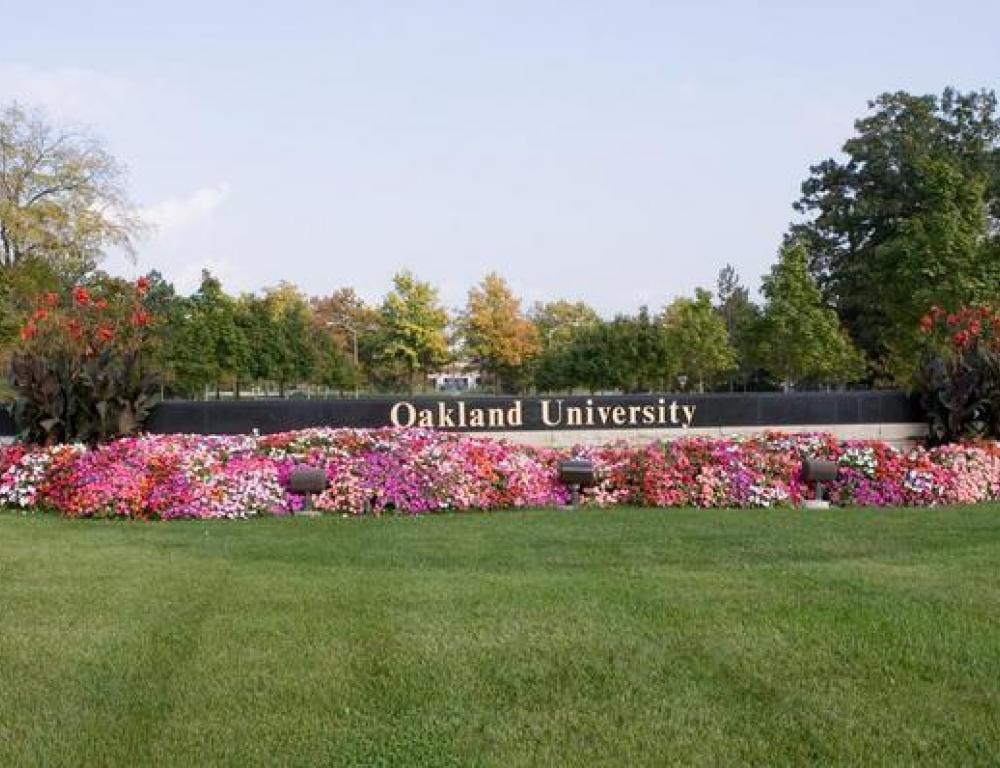 Oakland University campus entrance