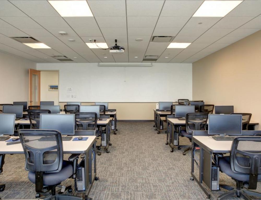 Classroom with PCs