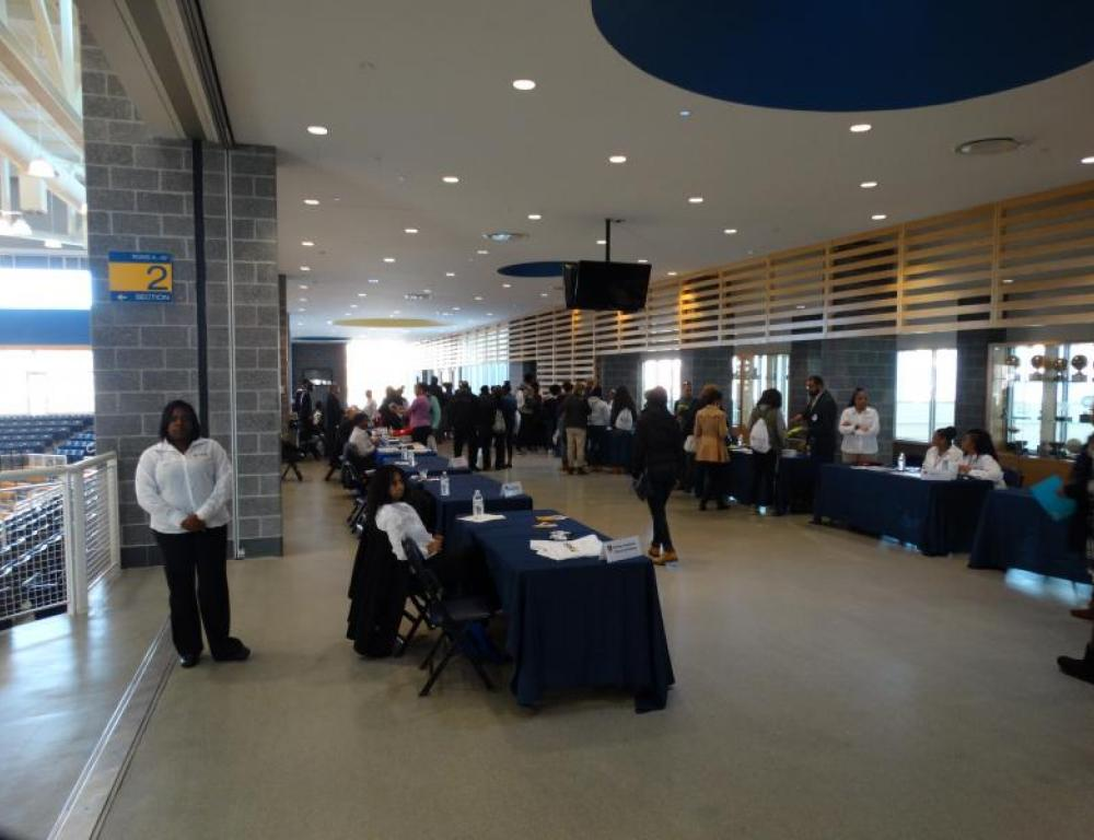 Physical Education Complex Concourse can be your next vendor fair location.