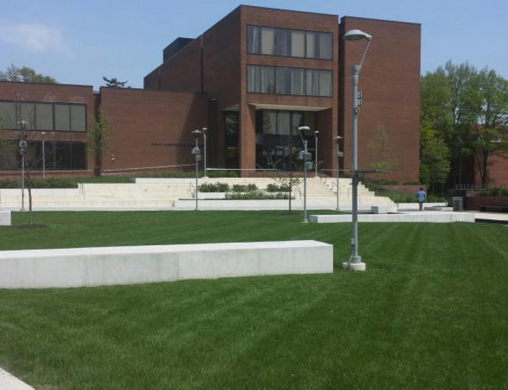 Moore Library Quad