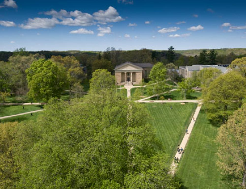 Kenyon's beautiful 1000-acre campus offers a wide variety of gathering spaces.
