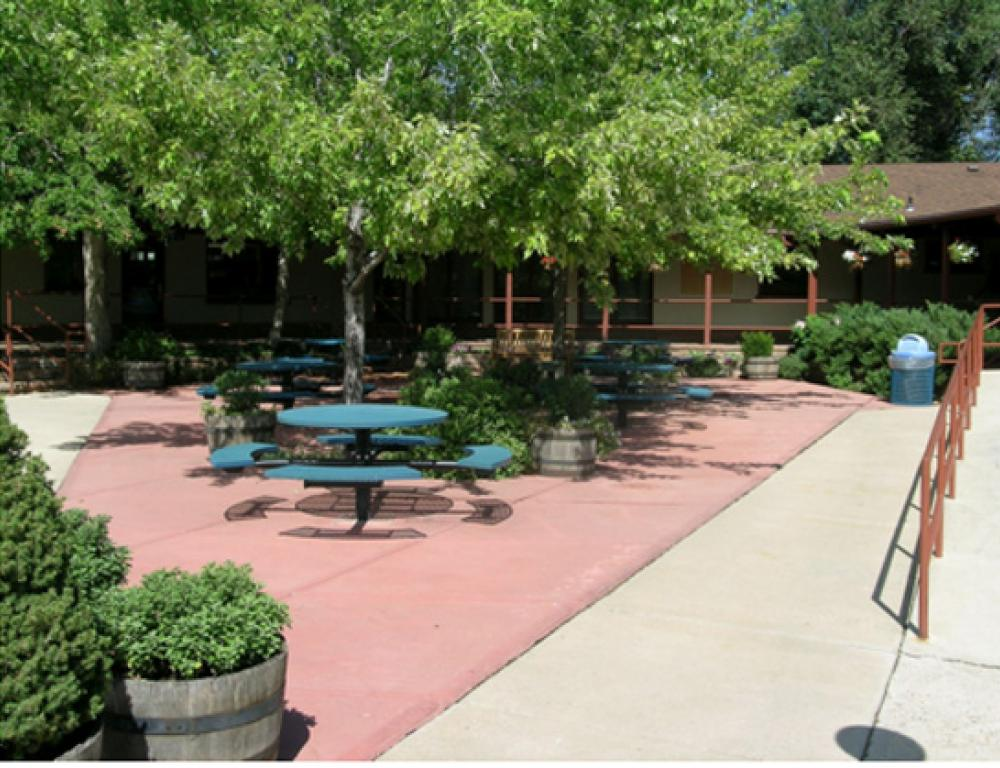 CCU has multiple outdoor picnic style settings that can be utilized by all our guests.