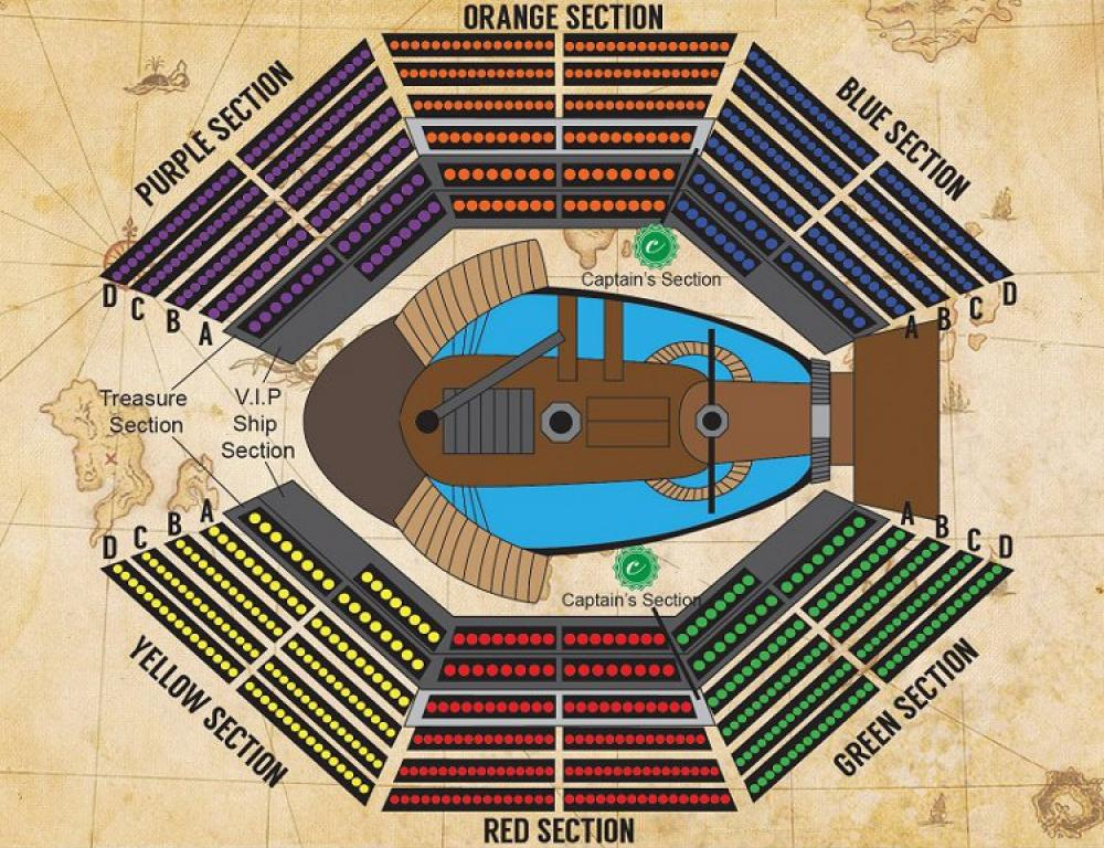 Pirates Theater Seating Chart