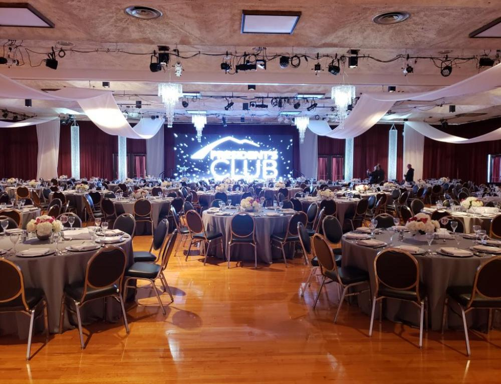 University Center Ballroom, President's Club Dinner 2018