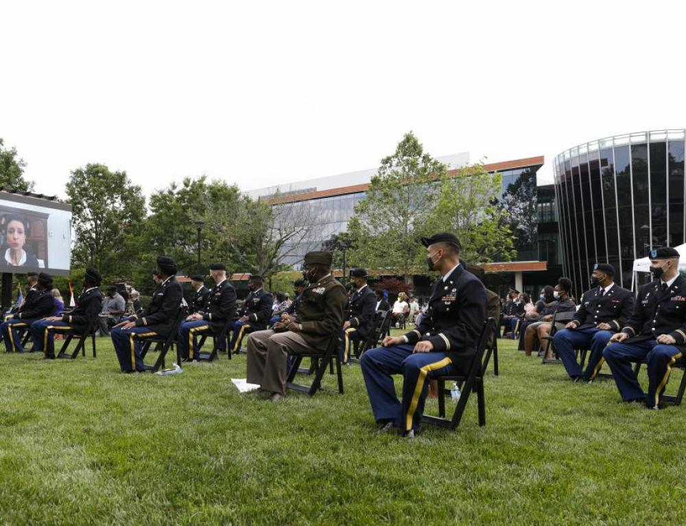Outdoor Commissioning Ceremony