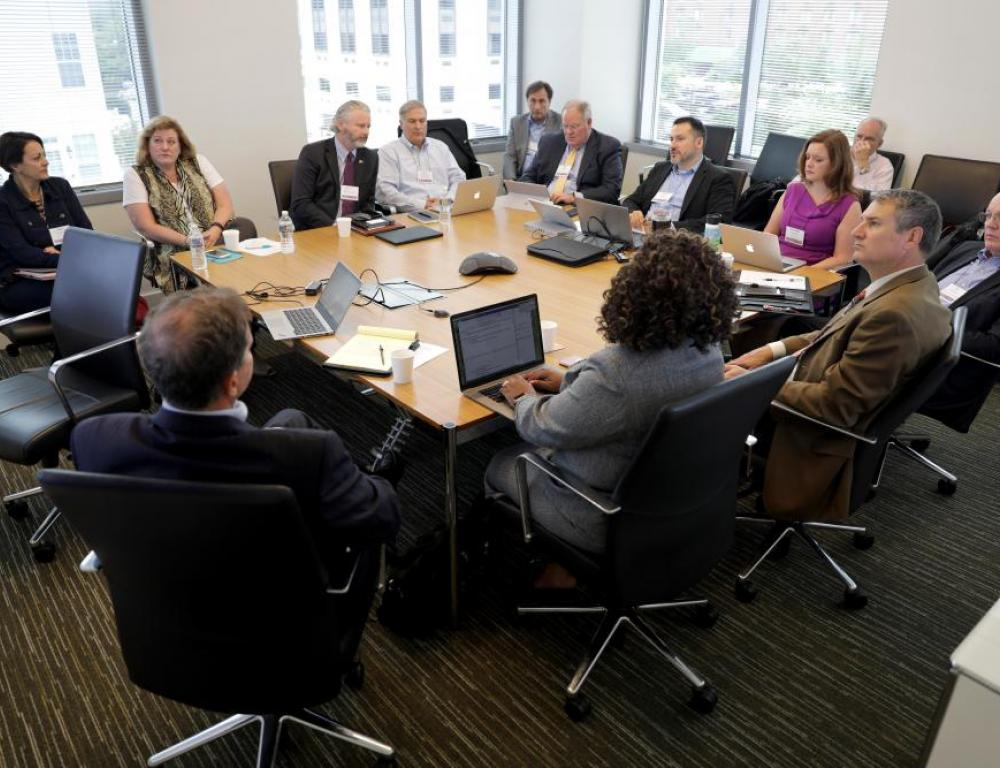 Farragut West Room Discussion with Perimeter Seating