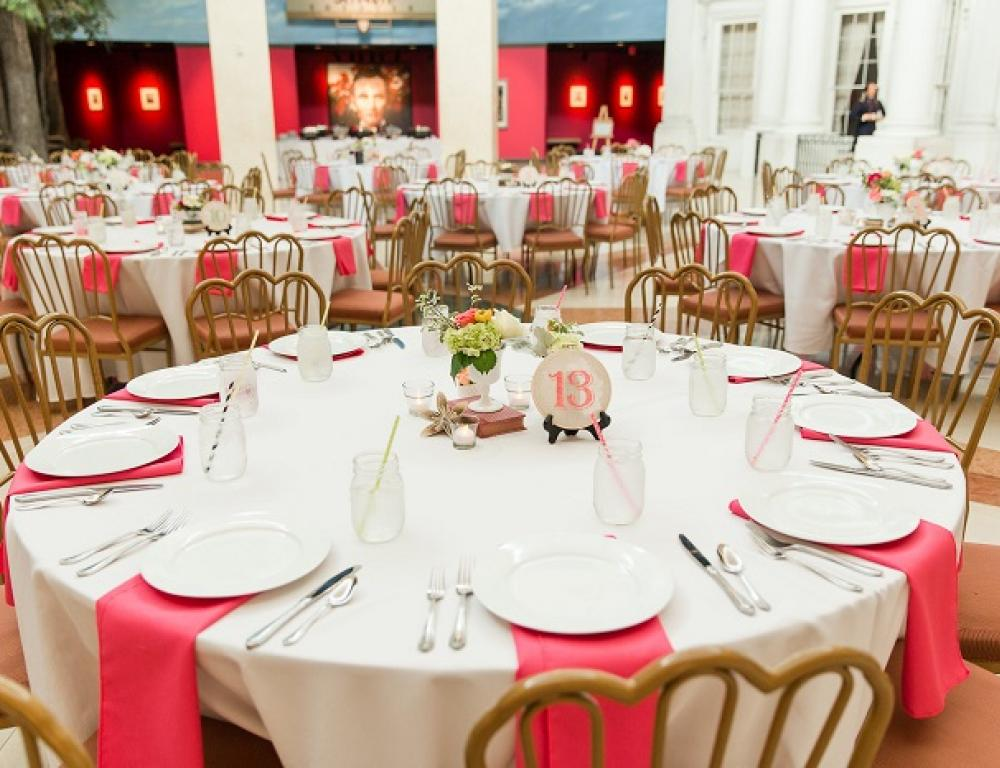 A spring wedding reception is about to begin at the Museum. (Photo by Jill Gum Photography)