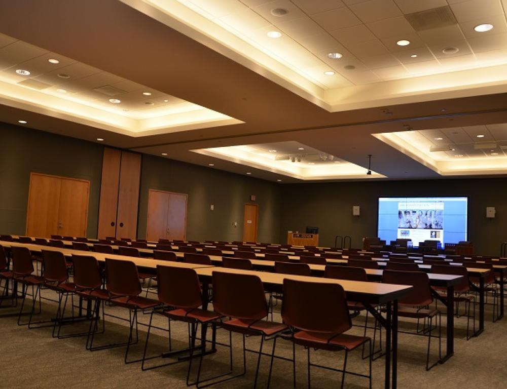 The Multipurpose Room is an ideal venue for conferences, meetings and seminars with various set-up styles possible.